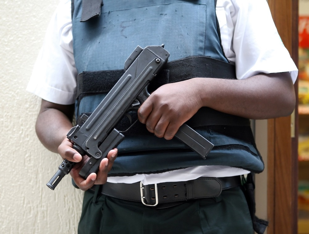 Работник охранного агентства